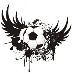 soccer grunge emblem vector image vector image