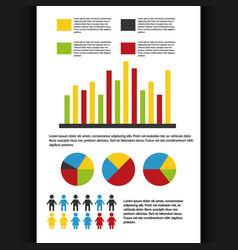 statistics data business report vector image vector image