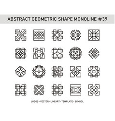 Abstract geometric shape monoline 39 vector