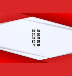 Abstract template header and footers red and gray vector
