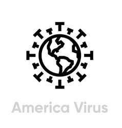 America virus spread globe pandemic novel vector