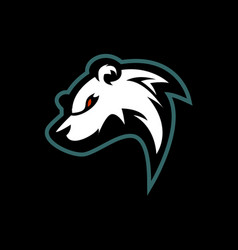 angry bear e sports logo vector image