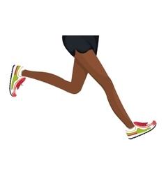 Athletes feet running isolated vector