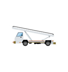 baggage belt conveyor for plane loading icon vector image