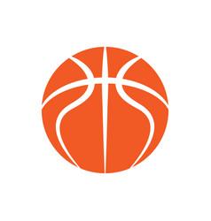basketball orange outline symbol vector image