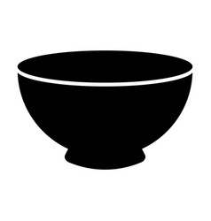 black bowl graphic design vector image