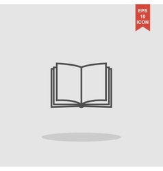 Book icon Flat design style vector