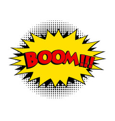 boom comic word pop art retro style vector image