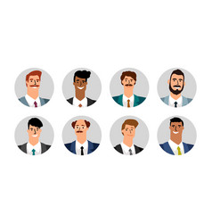 Business men avatars vector