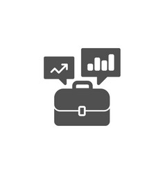 business portfolio with growth charts simple icon vector image