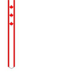canadian flag ribbon frame design element vector image
