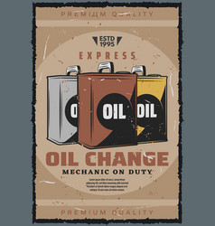 car oil change auto garage station service vector image