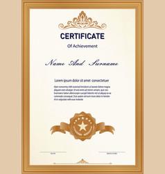 Certificate vintage vector