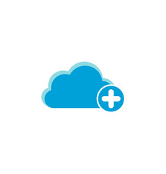 cloud computing icon plus icon vector image