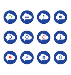 cloud computing icon set outline icon includes vector image