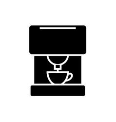 coffee machine icon black vector image