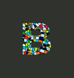 Colorful initial b mosaic vector