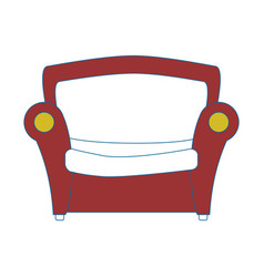 Couch seat furniture vector
