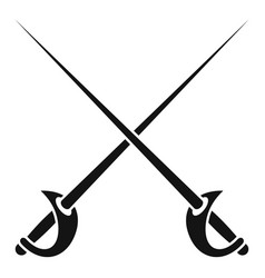Crossed rapiers icon simple style vector