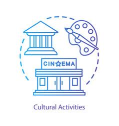 Cultural rest concept icon leisure pastime vector