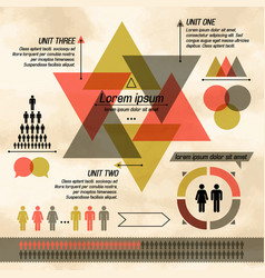 Dark triangle diagram infographic vector