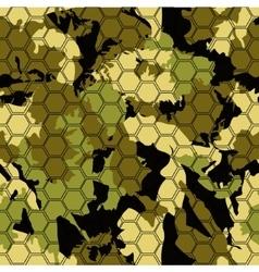 Digital gexagonal camo seamless pattern vector