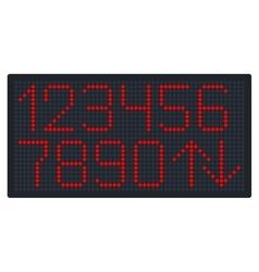 Digital Number Set for Elevator or Watch vector