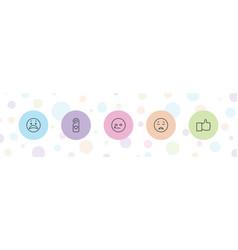 Facebook icons vector