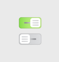 Flat icon on and off toggle switch button vector