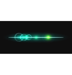 Glow stick line with circles effect vector