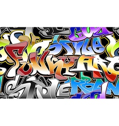 Graffiti urban background seamless vector image