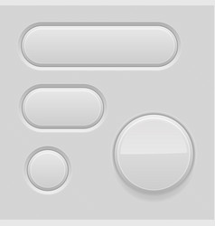 Gray interface buttons 3d matted signs vector