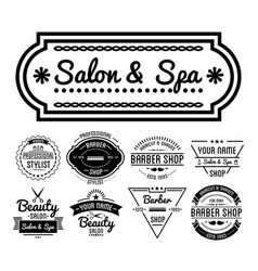 hairdresser or barber services salon and vector image