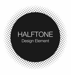 halftone dots monochrome abstract background vector image