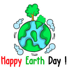 Happy earth day world with tree vector