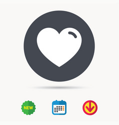 Heart icon romantic love sign vector