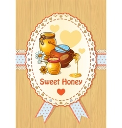 Honey Colored Poster vector image