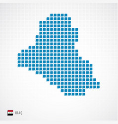 iraq map and flag icon vector image