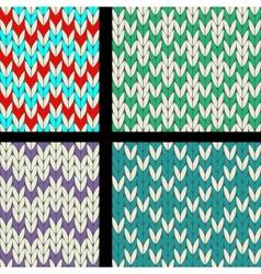 Knit pattern vector