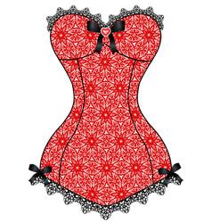 lace vintage corset vector image