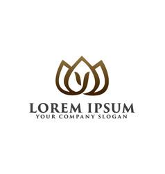 landscaping lily flower logo design concept vector image