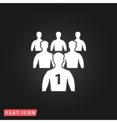 Leadership flat icon vector