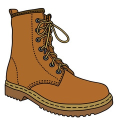 Light leather boot vector