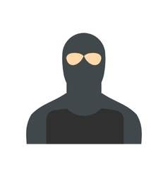 Man in a mask flat vector image