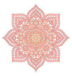 Mandala ethnic round ornament hand drawn indian vector
