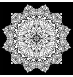 Mandala tattoo Arabic Indian asian vector