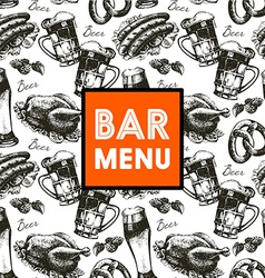 Menu for restaurant cafe bar Oktoberfest vintage vector