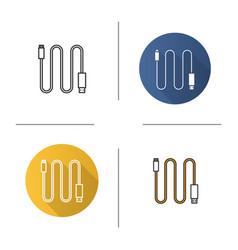 mini usb cable icon vector image
