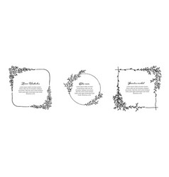 minimalist floral frames collection vector image