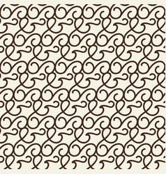 monochrome seamless swirls pattern vector image